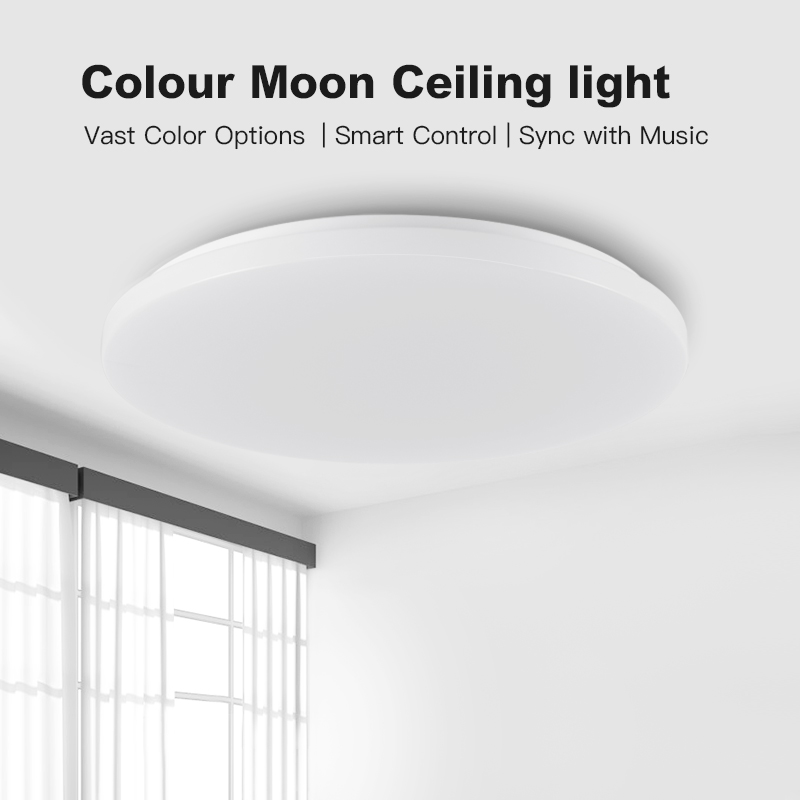 Modern LED Smart Ceiling Light APP Control RGB Dimming 36W48W Bluetooth Speaker AC85V 265V, LED ceiling Lights - 2