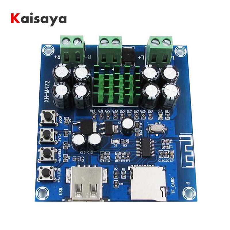 XH-M422 DC12-24V TPA3116D2 50 W + 50 W Bluetooth 4,0 amplificador con Bluetooth U disco TF jugador C3-001