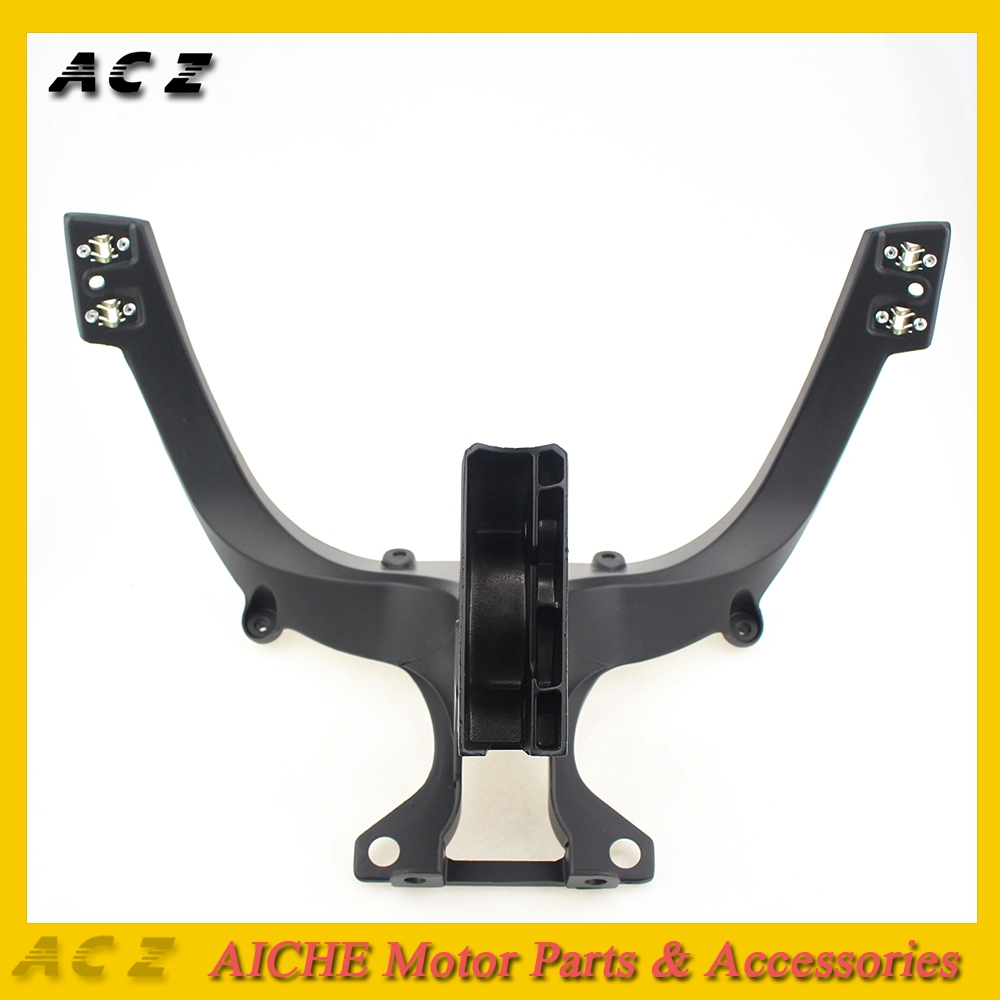 ACZ For 2008-2011 Ducati 848 1098 1098S 1198 1198S 848 EVO Black Upper Front Headlight Headlamp Bracket Fairing Stay Head Cowlin