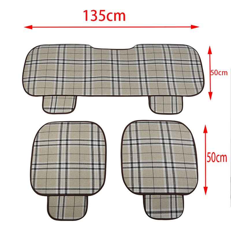 ZD For Citroen C5 C4 C3 Mini Cooper Opel Astra H G J Vectra C Saab Linen Car Accessories Seat Pad Covers Non-slip Mat Cushion