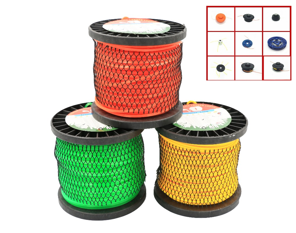 Trimmer Line 3 shapes 3.0mm/120-1LB Nylon Trimmer Line Garden Cord Wire String Grass Trimmer Line For Grass Cutter Trimmer LineTrimmer Line 3 shapes 3.0mm/120-1LB Nylon Trimmer Line Garden Cord Wire String Grass Trimmer Line For Grass Cutter Trimmer Line