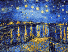 Starry Sky of the Rhone River Painting