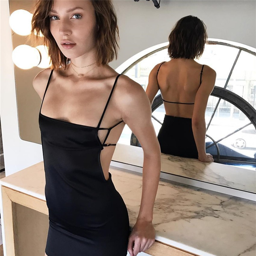 HTB1qoeqPVXXXXbgXXXXq6xXFXXXU - FREE SHIPPING Women Sexy Strapless Backless Satin Summer Dress JKP275