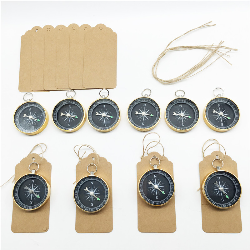 20Pcs/lot Party Favors For Wedding Souvenirs Compass With Tags Creative Wedding Gifts For Guest Baby Shower Event Party Supplies