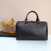 Kaisiludi leather woven handbag men's bag travel bag women's business shopping bag fashion