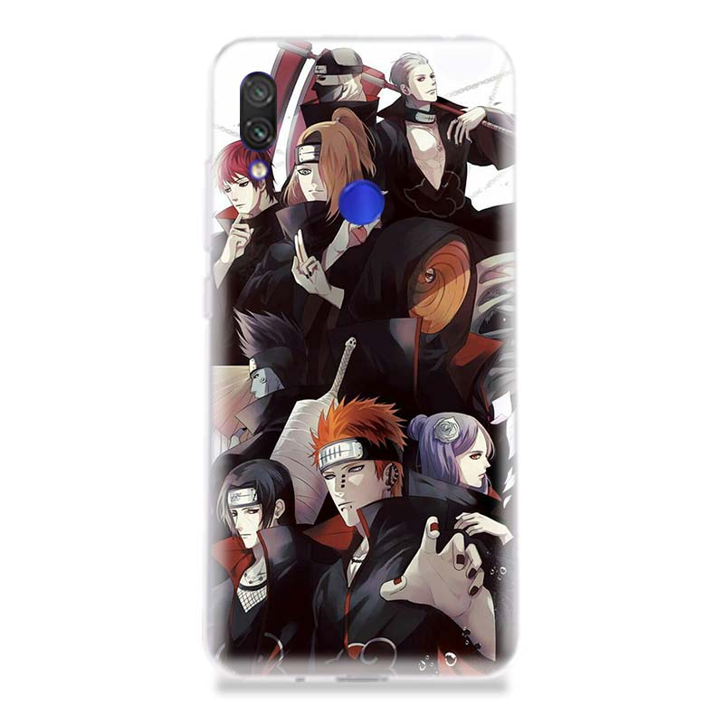 Akatsuki Pain Itachi Phone Case for Xiaomi Redmi S2 Y3 Y2 Note 7 7S 6 5 Pro 4 4X Mi Pocophone F1 9 8 A2 Lite Pattern Cover Coque in Half wrapped Cases from Cellphones Telecommunications