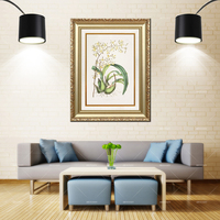 Artcozy Golden Frame Abstract Wall Arts dactylorhiza insularis Waterproof Canvas Painting