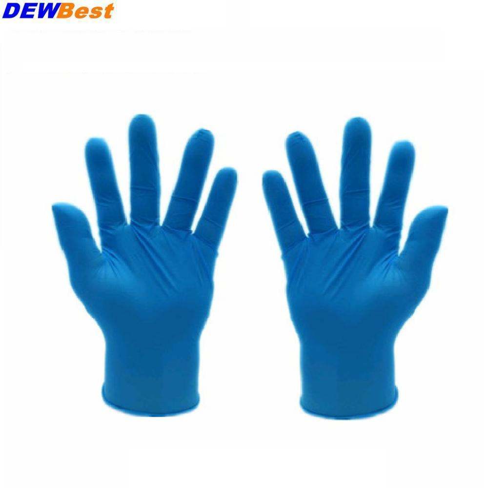 Amiable 50 Pieces /pack Disposable Latex Gloves Medical Laboratory Food Operation Clean The Dishes Housework Waterproof Rubber Gloves Buy Now Office & School Supplies