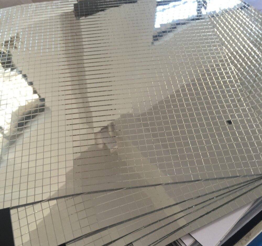 Glas Mosaik Fliesen Mini Quadrat Glasmosaik Spiegel Blatt Echtglas