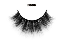 Free Shipping Eyelashes 1 pair D606 Siberian 3d Mink Fur Strip Handmade Soft False eyelashes natural look woman makeup big eyes
