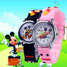 Mickey Children Fashion Watches Child Quartz Wristwatches Kids Clock bracelet ba