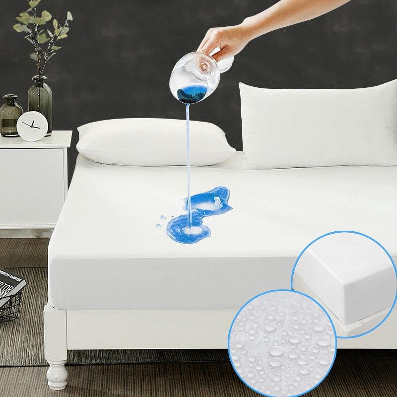 DFH Größe 150X200 cm Günstigste Glatte Wasserdichte Matratzenschoner Abdeckung Für Bettbenetzung atmungsaktiv Hypoallergen Anti-milbe