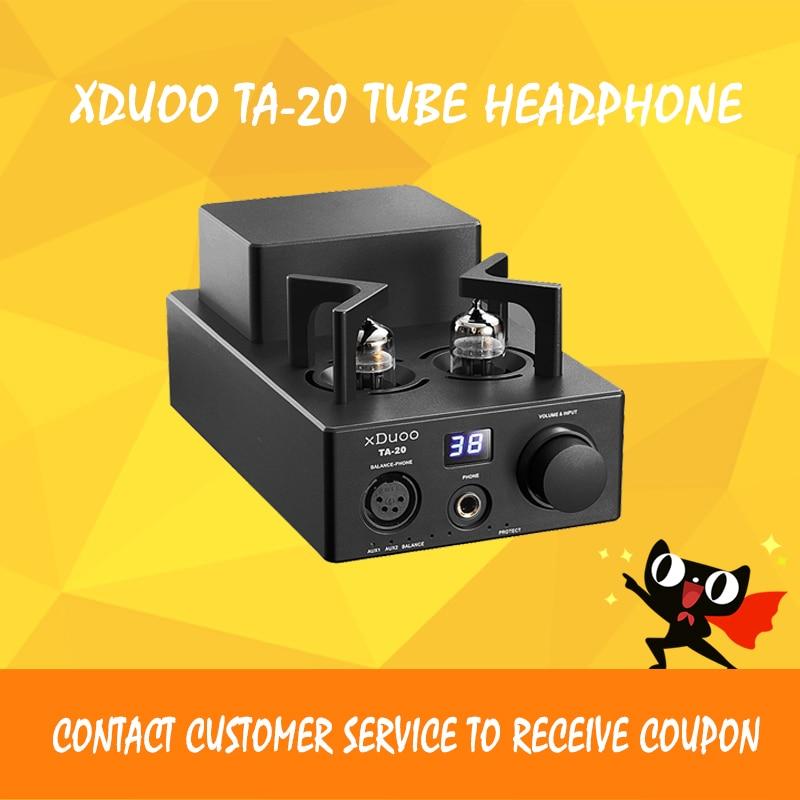 XDUOO TA-20 High Performance Balanced Tube Headphone Amplifier Power Amplifier 12AU7 HIFI AUDIO AMP (Black) original xduoo ta 20 high performance balanced tube headphone amplifier power amplifier
