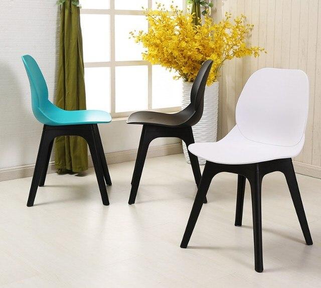 € 134.25 |Silla de comedor minimalista clásica de diseño moderno Silla de  café de plástico de Europa en Sillas de comedor de Muebles en ...