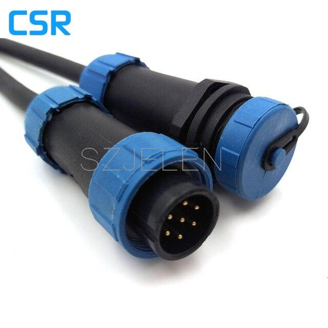 SY1710, 7 pin Wasserdichten Stecker, Kabel kabel steckverbinder 7 ...