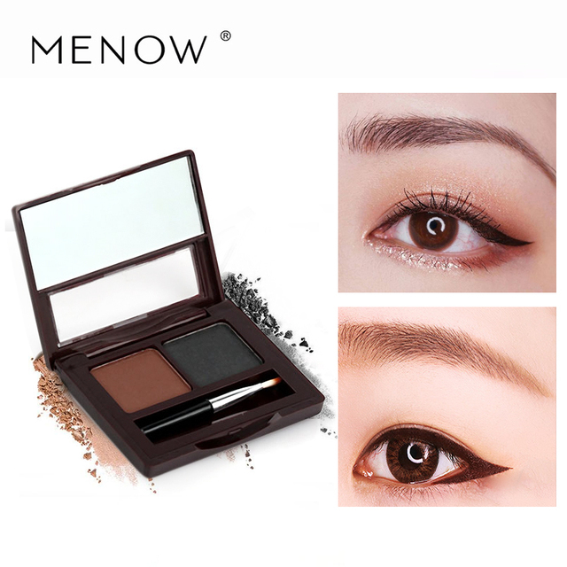 Menow Two Color Eyebrow Cake Powder Eyebrow Brush Gifts With Eyeliner Pencil Waterproof Natural Hot Selling Makeup In Eyebrow Enhancers From Beauty