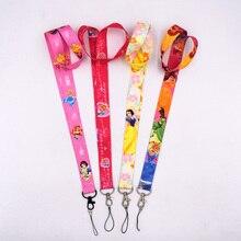1Pcs 4styles Elsa Anna MobilePhone nyakpánt kulcskártya ID lánc nyakpánt fülbevaló Karácsonyi ajándékok gyerekeknek