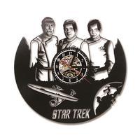 Star Trek Theme Record Clock Hollow Creative Wall Clock Room Decor Clock Silent Non-ticking 3D Vintage Clock Movement Mechanism