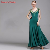 New Ballroom Dress Standard Short sleeve Dresses Ballroom Dance Dress Flamenco Dance Costumes Ballroom Practice Dress Dance