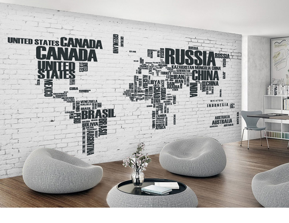 Any size custom diy 3d wallpaper mural rolls russia canada world any size custom diy 3d wallpaper mural rolls russia canada world map for office hotel restaurant bar ktv living room background in wallpapers from home gumiabroncs Images