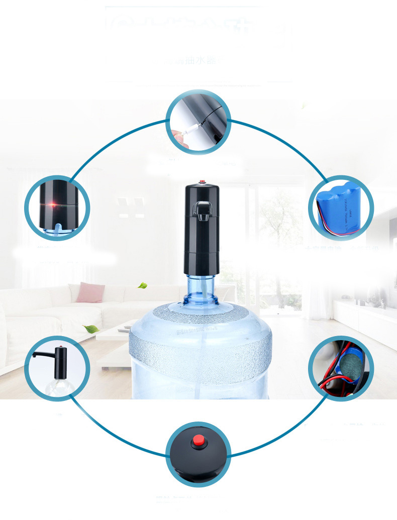 New Electric Water Pump Bottle Drinking Dispenser Desk Power Plug Kitchen Tool High Quality