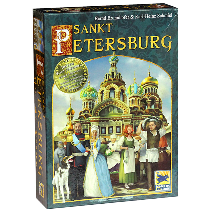 Saint Petersburg Board Game Cards Game 2-5 Players Family toys Game For Children With Parents indoor games castles of burgundy board game 2 4 players cards games send english instruction funny game for party family with free shipping