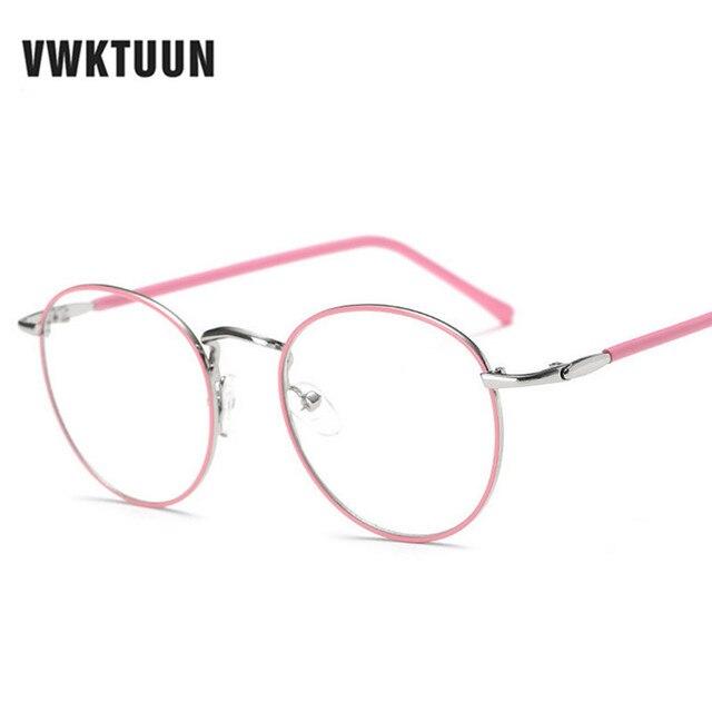Vwktuun montures de lunettes rétro hommes femmes métal plaine lunettes  spectacle ronde cadre lunettes vintage cadre 3c847847e800