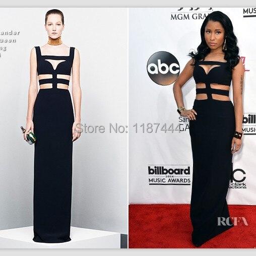 Nicki Minaj Black sexy red carpet prom dress 2014 Billboard Music Awards  Celebrity Gowns party evening gown 6c1c3bd9c262