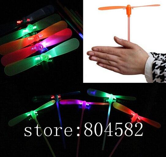 LED Luminous flying bamboo dragonfly light up flashing toys 10 PIECE/lot toy toys ufo T4