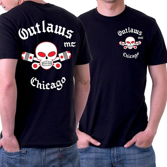 864f92bc2f44 Outlaws MC men T shirt support outlaws t shirt free shipping-in T ...