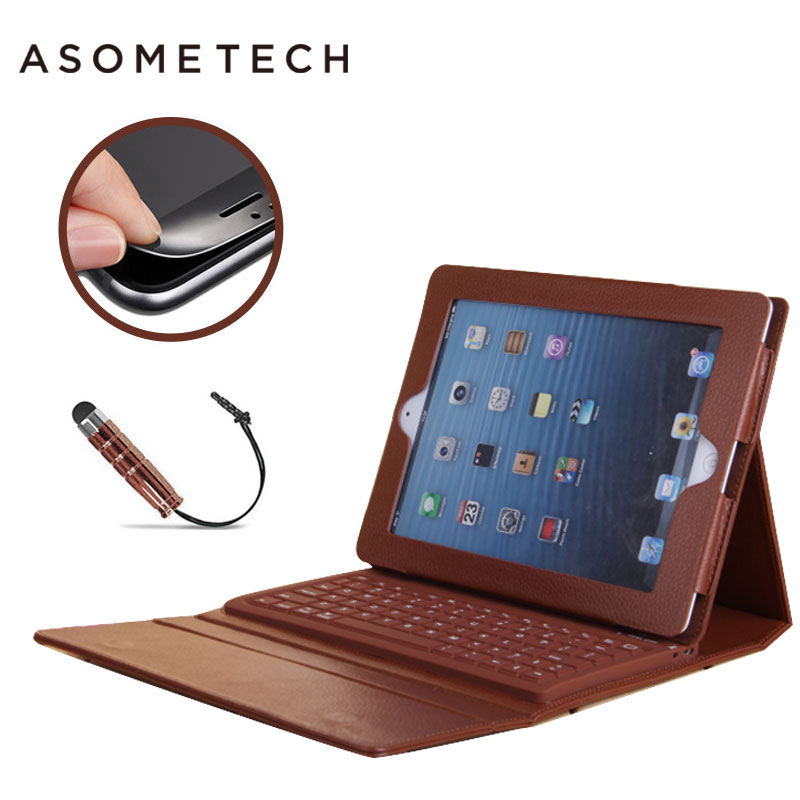 Hot Wireless Bluetooth Keyboard Case For 2017 new Ipad pro 9.7 senior PU Folio Stand Capa For iPad air 1 2 protective Cover case for ipad pro 12 9 keyboard case magnetic detachable wireless bluetooth keyboard cover folio pu leather case for ipad 12 9 cover