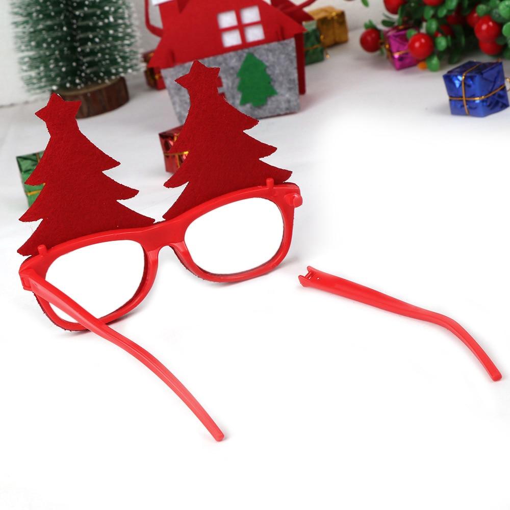 600 pçs decorações de natal para decoração de casa óculos de ano novo para crianças papai noel cervos boneco de neve enfeites de natal aleatório - 6