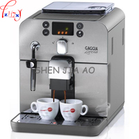 1pc 220V Business/home automatic Italian coffee machine 1.2L coffee machine intelligent stainless steel Italian coffee machine