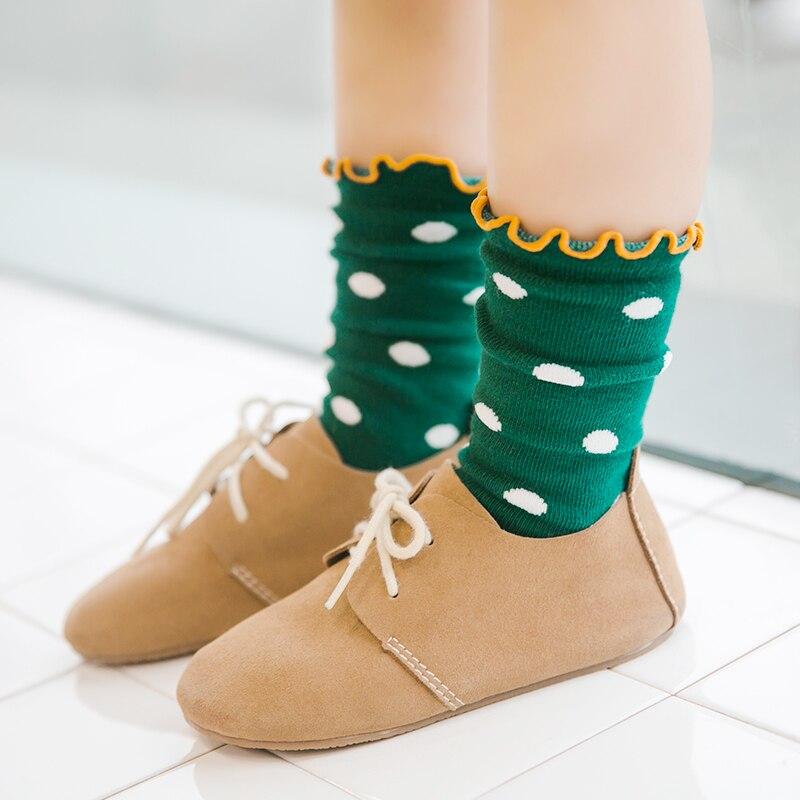 High Quality Kids Girls Fashion Socks For baby Boys Toddle Cotton ruffle Socks Dots Stripes z057 one set vertical stripes socks