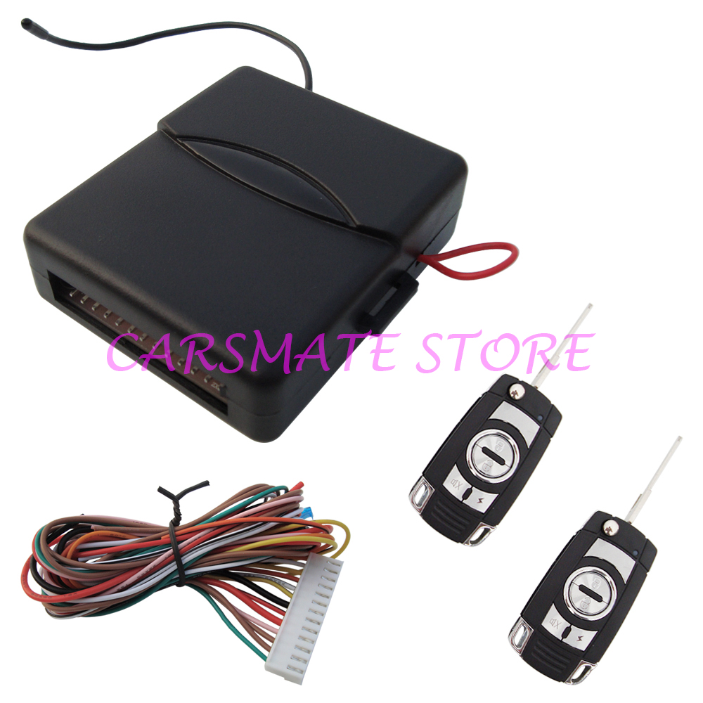 Car Remote Central Door Locking Keyless Entry System with Flip Key Remote Controls Many Key Blades Are Selectable Carsmate