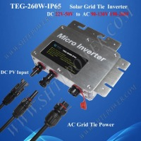 260W Waterproof Micro Grid Tie Inverter DC 22V 50V Monitoring Inverter For Solar Energy System