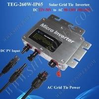 260W Waterproof Micro Grid Tie Inverter DC 22V 50V Monitoring Inverter For Solar Energy System