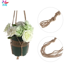 Vintage Garden Rope Basket Macrame Plant Hanger Flower Pot Hanging Holder Tool 112 cm Nov