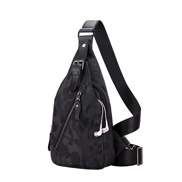 b6ac47776faa Brand Crossbody Bags for Men Messenger Chest Bag Pack Casual bags earphone  support Waterproof oxford single Shoulder bags 2019