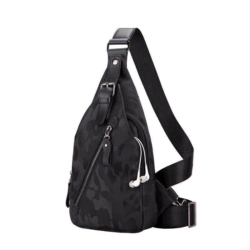 Fyuze Neue Single Schulter Taschen Für Männer Usb Ladung Umhängetaschen Männlichen Wasserdichte Nylon Umhängetasche Anti Theft Brust Tasche Bauchtaschen