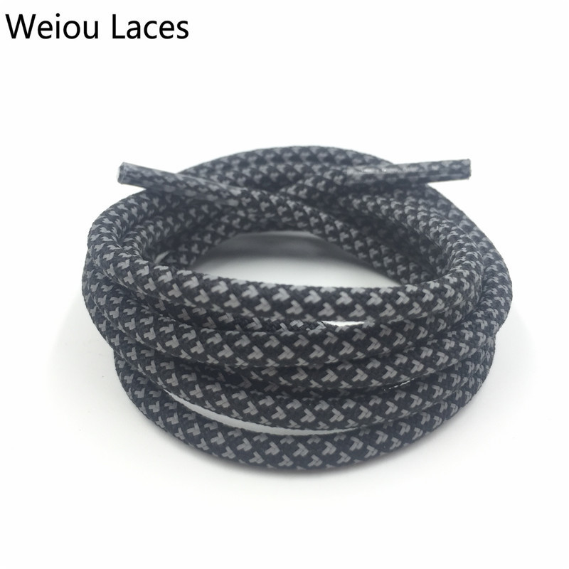 Weiou 3M Round Type Reflective Shoe Laces High Visibility Rope Laces Shoestrings Safety Replacement Shoelaces For Men Women Kids oumily reflective multi purpose paracord nylon rope cord reflective grey 30m 140kg