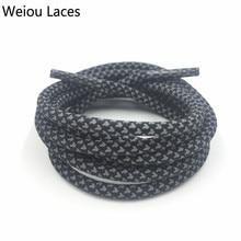 Weiou 3 एम गोल प्रकार प्रतिबिंबित जूता लेस उच्च दृश्यता रस्सी लेस जूते महिलाओं के लिए जूते की सुरक्षा प्रतिस्थापन shoelaces