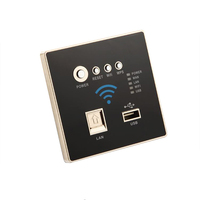 300M Rate Black WIFI USB Charging WiFi Socket, USB Socket Wall Embedded Wireless AP Router Phone Wall Charge