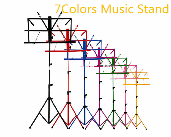 Niko Colourful Sheet Folding Music Stand Metal Tripod Stand Holder With Soft Case Free Shipping Wholesales leory universal 50kg loading folding projector stand tripod with metal stand
