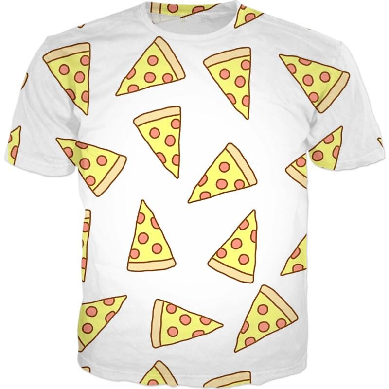 New arrival Pizza Tee pizza slice all over printed t shirt fashion Men women t shirt aesthetic casual tops tee pizza tee