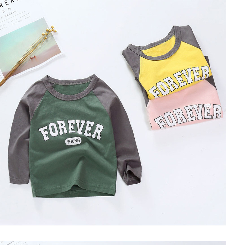 New Spring Boys Girls Cartoon Cotton T Shirts Children Tees Boy Girl Long Sleeve T Shirts Kids Tops Brand Baby Clothes 12M-8Y 8