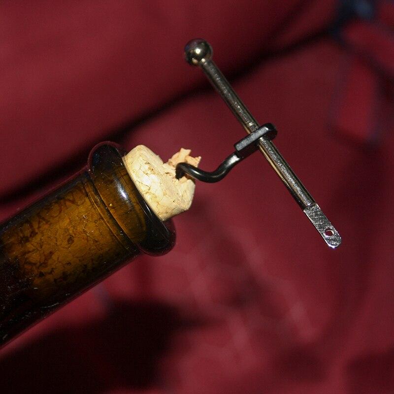 Creative Ultrlight Multifunctional Mini EDC Outdoor Stainless Steel Red Wine Bottle Opener With Ring Keychain Bottle Opener