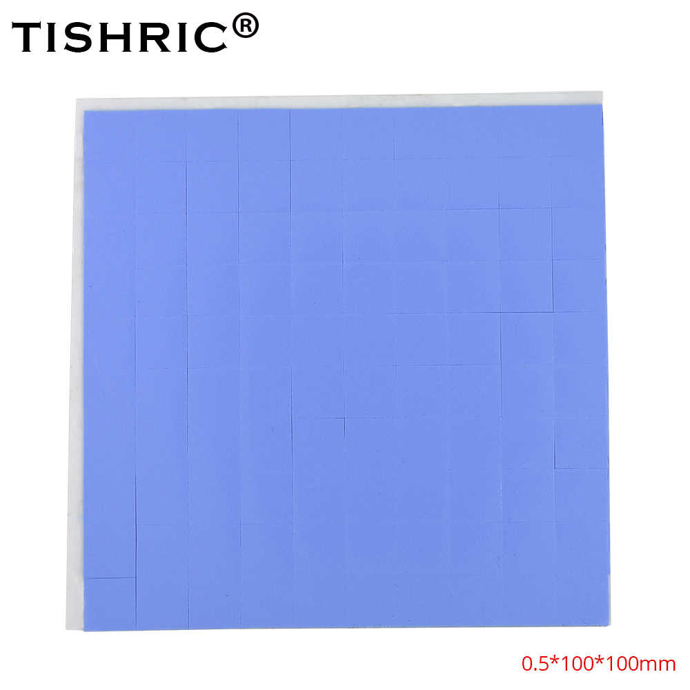 TISHRIC 100*100*0.5mm Conductive Silicone GPU CPU Thermal Pads 0.5mm heatsink heat sink Grease Paste Adhesive PC Fan Cooler