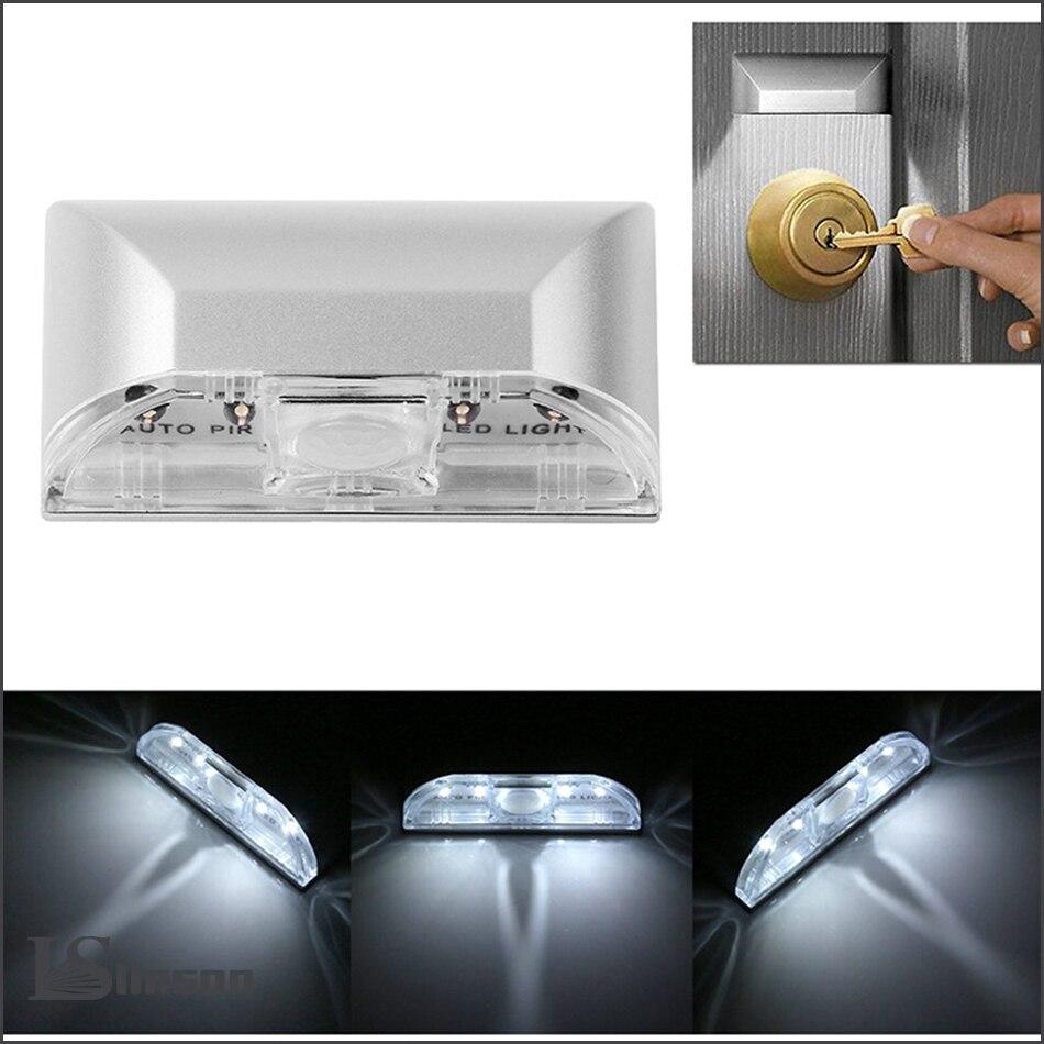 Smart PIR Motion Sensor LED Night Light Battery Powered Wireless Intelligent Portable Infrared Induction Lamp Night Lights in LED Night Lights from Lights Lighting