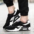 Dos Homens novos da Marca Sapatos Casuais Confortáveis Respirável Sapatos de Camurça Malha Calçado Lace Up Plano Esporte Formadores Zapatilla Hombre equilíbrio sapatos